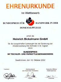 Auszeichnung für Arbeiten in denkmalgeschützten Häusern