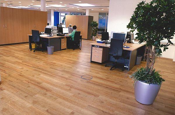 Gewerbliche Räume mit Designfussboden belegt